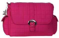 Fuchsia Quilted Nylon Buckle Diaper Bag | Style 2960 - Kalencom
