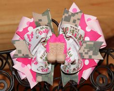 Army Camouflage My Daddy Wears Combat Boots by MegansHairCandy, $16.00