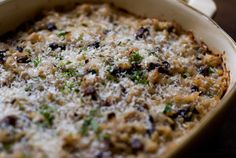 """this is the same recipe as """"Wild Rice Casserole"""" from Super Natural Every Day except you add 1 teaspoon of dijon mustard and use some wild rice along with the brown."""