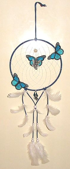 Mijn Dromenvanger- Dreamcatcher >>>> Blauwe Fee *Blue Fairy <<<< Graag nodig ik je uit mijn online Dromenvangers-Winkeltje te bezoeken met door mij ontworpen originele & unieke Dromenvangers. *I invite you to visit my online Dutch Dreamcatcher shop with my own personal, unique, once only Dreamcatchers. If you want you can mail me in English & German. http://dromenvangeres.marktplaza.nl