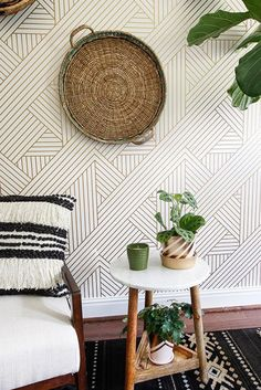 Removable wallpaper is the renter's solution to getting a wall that will wow.