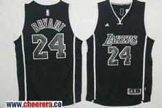 e3c884234f0 Men s Los Angeles Lakers  24 Kobe Bryant Black With Black Stitched NBA  Adidas Revolution 30