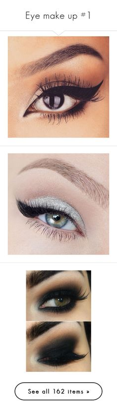 """Eye make up #1"" by karasito ❤ liked on Polyvore featuring beauty products, makeup, eye makeup, eyeliner, eyes, beauty, liquid eyeliner, liquid eye liner, eyeshadow and bright eyeshadow"