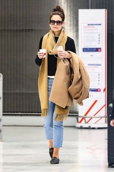 Katie Holmes and I Couldn't Agree More on the Best Shoes to Wear to the Airport