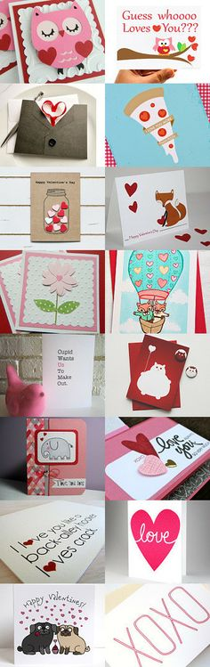 ROOM FOR SOME LOVE!! 16 AMAZING HANDMADE CARDS FOR VALENTINES! by Party Lab on Etsy--