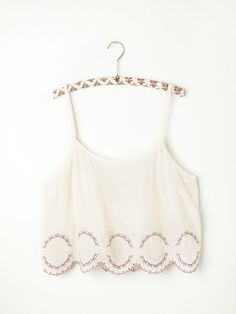 Free People Embroidered Hem Crop Cami, $78.00