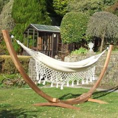 hammock with crochet hanging lace