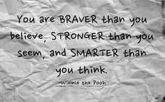 Winnie the Pooh quote Bravery