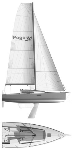 pogo 30 sailboat | Pogo 30 drawing on sailboatdata.com
