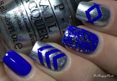 HungryNails: Blue Friday   Silberblaue Skittle Nails