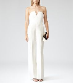 89b38864cb2 Womens Ivory Bustier Jumpsuit - Reiss Kris Wedding Jumpsuit