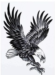 Large Eagle Temporary Tattoo - Pain Free & Fun for all ages, perfect gift idea and great party accessory for everybody. - Switch a tattoo in a matter of minutes Fake Tattoo, Tattoo Pain, Tattoos For Guys, Tattoos For Women, Cool Tattoos, Henna Tattoos, Ribbon Tattoos, Celtic Tattoos, Flower Tattoos