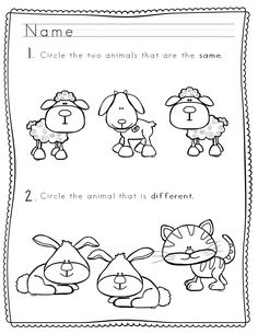 """Labeling items """"same"""" or """"different"""" is a foundational skill for beginning learners. This packet of worksheets, activities, and posters feature adorable farm babies and provide opportunities for young students to practice differentiating between objects.   This pack includes a simple (distraction-free!) poster to use as an aid for your visual learners during the lesson or as a classroom anchor chart."""