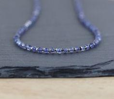 Iolite Miyuki Seed Beads & Sterling Silver by EllaArtisanJewellery