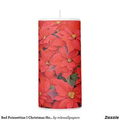 Red Poinsettias I Christmas Holiday Floral Photo Pillar Candle Christmas Home, Christmas Holidays, Widescreen Wallpaper, Holiday Pictures, Poinsettia, Pillar Candles, My Favorite Things, Create, Floral