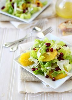 *pomegranate orange and fennel salad recipe/ goodlifeeats.com