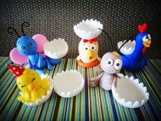 Cris Ubara - Biscuit para festas: Turma da galinha pintadinha (porta docinho)