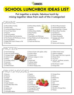 Free Printable: School Lunchbox Ideas List ~ a perfect way to get the kids involved with picking healthy choices for their lunch | 5DollarDinners.com