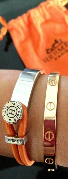Love this Hermes bracelet. Wish I knew the name so I could order it! (not on current Hermes site)