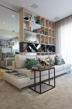 New Living Room Apartment Ideas Furniture Layout Shelves Ideas Living Room Storage, New Living Room, Interior Design Living Room, Home And Living, Living Room Designs, Living Room Decor, Furniture Layout, Furniture Design, Deco Studio