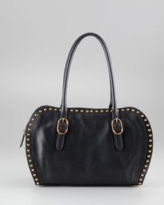 V16TR Christian Louboutin Queen Studded Satchel Bag, Small