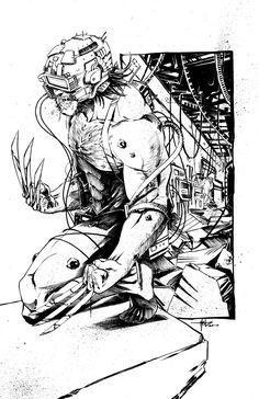 by Creees Hyunsung Lee Wolverine Cosplay, Wolverine Art, Logan Wolverine, Star Wars Poster, Star Wars Art, Star Trek, Hq Marvel, Marvel Comics, Comic Books Art
