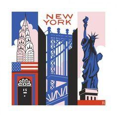 New York Print - Julie Goonan | Crie seu quadro com essa imagem https://www.onthewall.com.br/new-york-print #quadro #canvas #moldura