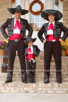 Homemade Three Amigos Group Costume: I had the idea of dressing up my family in a Homemade Three Amigos Group Costume for YEARS. It just took the right party for me to decide to get every