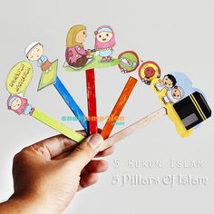 Rukun Islam 5 Pillars of Islam Ramadan Activities, Ramadan Crafts, Toddler Activities, Ramadan Decorations, 5 Pillars, Pillars Of Islam, Fun Learning, Preschool Activities, Teaching Kids