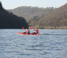 Kayaking, Elan Valley reservoir
