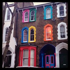 Dalston, Hackney, E8. Colourful property. Victorian House.