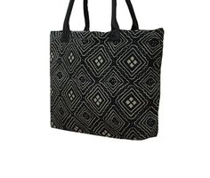 Black Hand Stitch Kantha Work Tote Bag Ethnic by MyCraftPalace Work Tote, Hand Stitching, Ethnic, Reusable Tote Bags, Trending Outfits, Unique Jewelry, Handmade Gifts, Etsy, Vintage