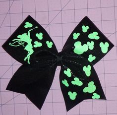 Tinkerbell Inspired Cheer Bow by SportingPrideBows on Etsy