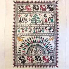 Warli painting is a very popular form of tribal painting in India. Their major themes include the harvest season, celebration, wedding, rituals and births. Warl