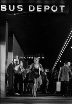 "Marilyn on the set of ""Bus Stop"". Photo by Milton Greene, 1956."