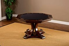 Hillsdale Harding Game Table - Rich Cherry - With its hand-carved wood construction and convenient reversible tabletop, the Hillsdale Harding Game Table – Rich Cherry is ready for any.