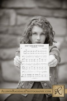 Music senior picture....with favorite song at the time?