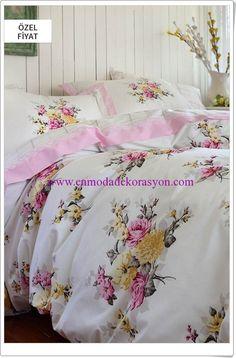 Sarev çiçek desenli nevresim takımı Comforters, Blanket, Bed, Home, Creature Comforts, Quilts, Stream Bed, Rug, Blankets