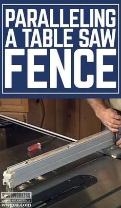 1600 wood plans - Master woodworker George Vondriska shows you how to parallel your table saw fence for woodworking projects. A WoodWorkers Guild of America (WWGOA) original video. Woodworking Drawings - Get A Lifetime Of Project Ideas and Inspiration! Cool Woodworking Projects, Woodworking Joints, Woodworking Patterns, Woodworking Classes, Popular Woodworking, Diy Wood Projects, Fine Woodworking, Woodworking Furniture, Woodworking Techniques