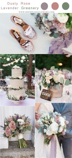 Get some ideas with these lavender purple, dusty rose and greenery wedding color. Get some ideas with these lavender purple, dusty rose and greenery wedding color combos, with wedding centerpieces, wedd. May Wedding Colors, Lavender Wedding Colors, Dusty Rose Wedding, Wedding Flowers, Purple Wedding Themes, Purple Wedding Colors, Lavender Wedding Decorations, Purple Summer Wedding, Lavender Ideas
