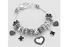 Brighton Bay Heart Charms Multi Spacer Beaded Bracelet by Brighton Bay -- Awesome products selected by Anna Churchill