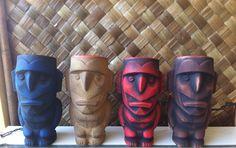 Our Nukumanu Tiki mugs.   Check them out at www.mahalotiki.com