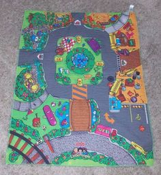 Fisher Price Little People Play Mat City Town For Cars and Figures 28 x 34 #FisherPrice