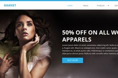 Market Ecommerce Muse Template by Creative Slides on @creativemarket