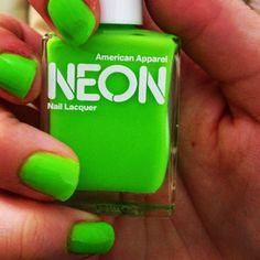 { I've always wanted to try these neon nail polishes from AA }