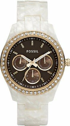 Fossil Stella Brown Dial Cream Bracelet Women's Watch ES2794 [Watch] Fossil. $105.00. Brand:Fossil. Model: ES2794. Condition:brand new with tags. Band color: cream. Dial color: brown