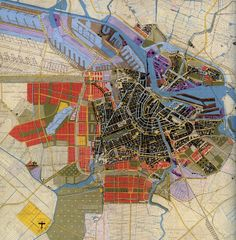 Plano principal del Plan de Extensión de Amsterdam. Van Eesteren y Van Lohuisen, 1934