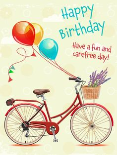 Send Free Fun & Carefree - Happy Birthday Card to Loved Ones on Birthday & Greeting Cards by Davia. It's free, and you also can use your own customized birthday calendar and birthday reminders. Birthday Wishes Flowers, Birthday Poems, Happy Birthday Flower, Happy Birthday Fun, Happy Birthday Messages, Happy Birthday Quotes, Happy Birthday Images, Happy Birthday Greetings, Fabulous Birthday