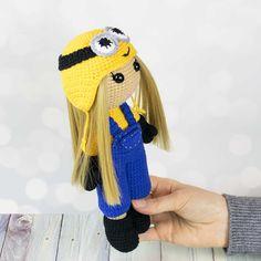 Crochet doll in Minion costume
