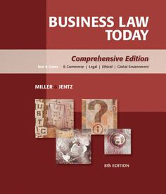 I'm selling Business Law Today: Comprehensive by Miller and Jentz - $25.00 #onselz